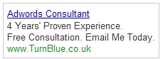 Freelance PPC Consultant Text Ad